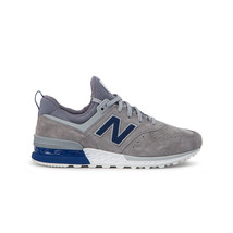 New Balance Men's 574 Sports Steel/Blue MS574BLG - $119.90