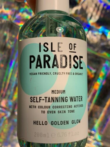 NEW Isle Of Paradise Medium SELF TANNING WATER MIST - Hello Golden Glow! Vegan