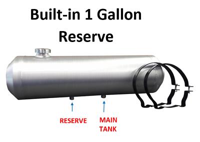 10X40 End Fill Spun Aluminum Gas Tank  RATROD 13.25 Gal DUNE BUGGY 1//4 NPT