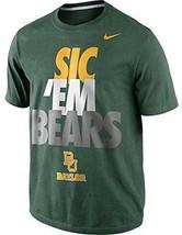 "Nike Baylor Bears ""Sic 'Em Bears"" Local Men's T-Shirt Green MEDIUM NEW - $48.00"