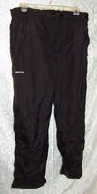 Arctix Black Ski Snow Pants L Mens Black Cargo Winter - $24.98