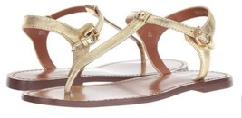 coach t strap gold metallic leather - $89.00