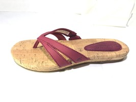 Timberland Women's Earthkeepers Spaulding RED Thong Sandals Flip Flops #8024A - $32.99