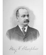 HENRY SHARPLESS  Philadelphia Dry Goods Businessman - 1895 Portrait Print - $9.44