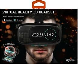 ReTrak Utopia 360° Virtual Reality Headset with Bluetooth Controller - $21.78
