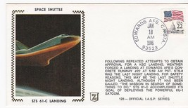 STS 61-C LANDING EDWARDS AFB CA JAN 18 1986 COLORANO SILK - $2.68