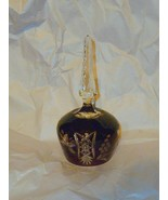 """Czech Red Cut to Clear Stem Handle Bell Deep Red 7 1/4"""" - $24.74"""