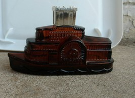 Vintage Avon After Shave Decanter of  a Steamboat Empty - $6.44