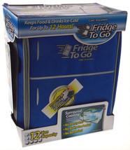 Mini Fridge To Go 12 Can All Day Cooler Light Blue Food Beverage Shoulde... - $35.99