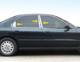 For 94-96 Honda Accord  6PC Stainless Steel Chrome Pillar Post Trim - $59.00