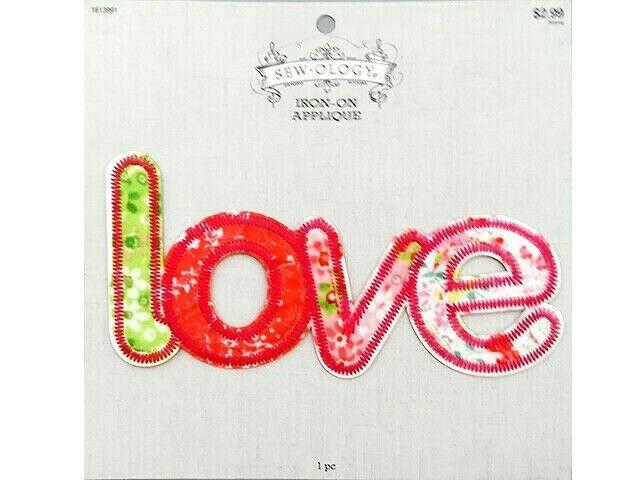 Hobby Lobby Sew-ology Iron-on Applique, Love #1613991