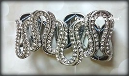 Avon Glamorous Life stretch bracelet antique silver w lots of crystals ~ RARE ~ image 1