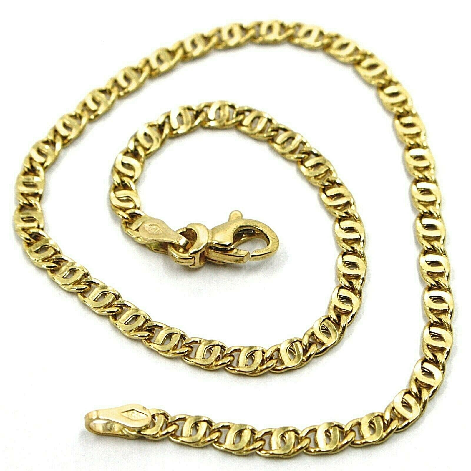 "Primary image for 18K YELLOW GOLD BRACELET WAVY TYGER EYE LINKS 2.8mm, 0.11"" LENGTH 21cm, 8.3"""