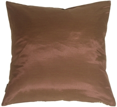 Pillow Decor - Bold Blue Flowers on Chocolate Accent Pillow image 3