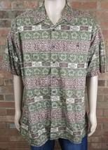 Mens Size XL Hawaiian Shirt Short Sleeve WOOLRICH Silk/Cotton Button Dow... - $16.81