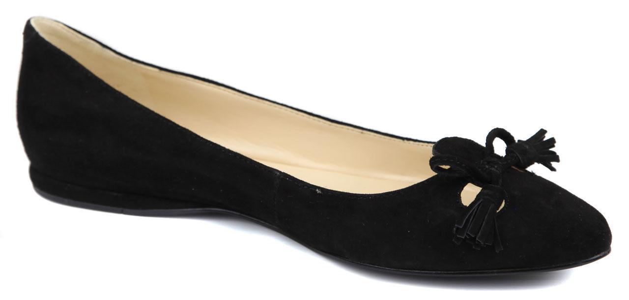 Nine West Women's Simily Suede Pointed Toe Flat, Dark Purple, 6 M US