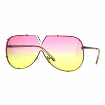 V Top Oversized Sunglasses Designer Style Shield Aviators UV 400 - $11.95