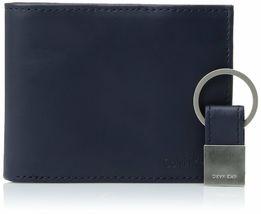Calvin Klein Ck Men's Leather Bifold Id Wallet Key Chain Set Rfid 79220 image 9