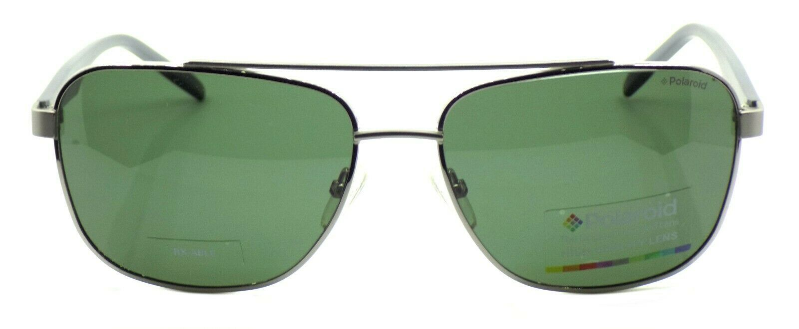 Polaroid PLD 2044/U/S 6LB Men's Sunglasses Polarized 60-16-140 Ruthenium / Green