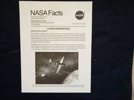 NASA  Facts Lunar Prospector Rediscovering the Moon 1997 - $5.90