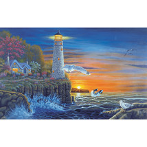 """Paint By Number Kit 15.375""""X11.25""""-Waterside Lighthouse - $11.63"""