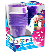 For home and kitchen Snack Holder Plastic Party Cups Drinks purple w/ St... - $13.68