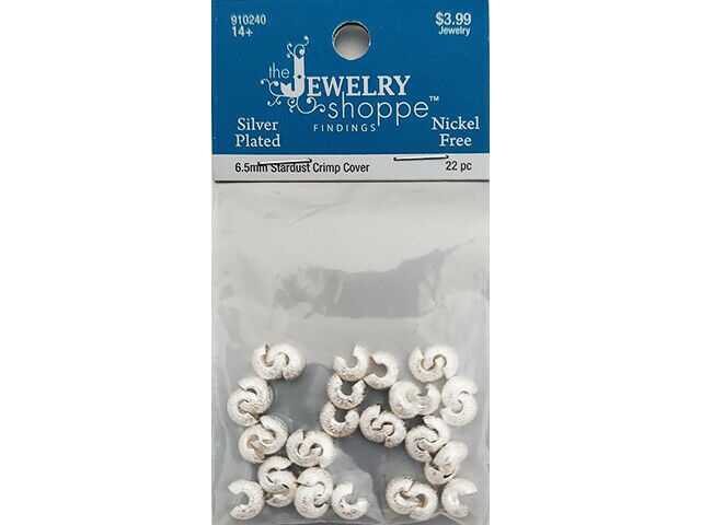 The Jewelry Shoppe 6.5mm stardust Crimp Bead Covers #910240