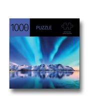 "Aurora Mountains Jigsaw Puzzle 1000pc 27"" x 20"" When Complete Durable Fit Piece"