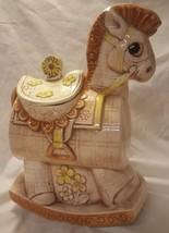 Rare - Vintage 1970's Treasure Craft Large Rocking Horse Cookie Jar USA - $67.72