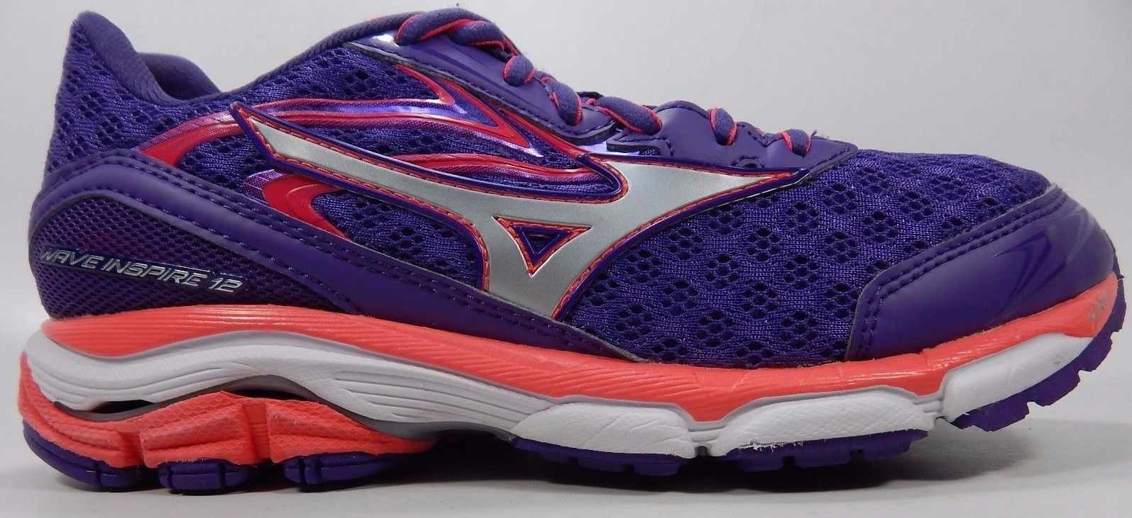 Mizuno Wave Inspire 12 Women's Running Shoes Size US 7 M (B) EU 37 Purple Pink