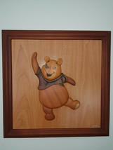 Extremely Rare! Walt Disney Winnie The Pooh Dancing Wooden 3D Art Piece - $346.50