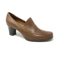 Franco Sarto Nolan Size 8.5 M Brown Leather Slip On Loafer Pump Shoes Ta... - $33.85
