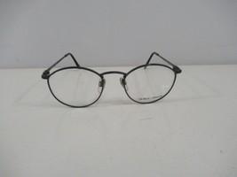 Giorgio Armani Eyeglass Frames 132 749 Grey Blue Wire Rimmed Round 47 19... - $72.55