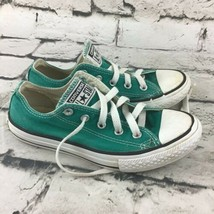 Converse All Star Unisex Youth Sz 1 Shoes Teal Retro Lace-Up Low-Top Sneakers - $24.74