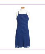 Ralph Lauren Girls' Plaid Sleeveless Chiffon Dress,Royal/Black, Size 10, $75 - $27.61