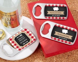 Personalized Silver Bottle Opener - BBQ(24 Pcs)  - $75.99
