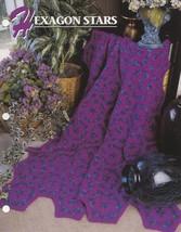 Hexagon Stars, Annie's Crochet Quilt & Afghan Pattern Club Leaflet QAC32... - $2.95
