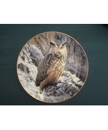 EAGLE OWL collector plate MOUNTAIN VIGIL Trevor Boyer OWLS Danbury Mint - $19.30