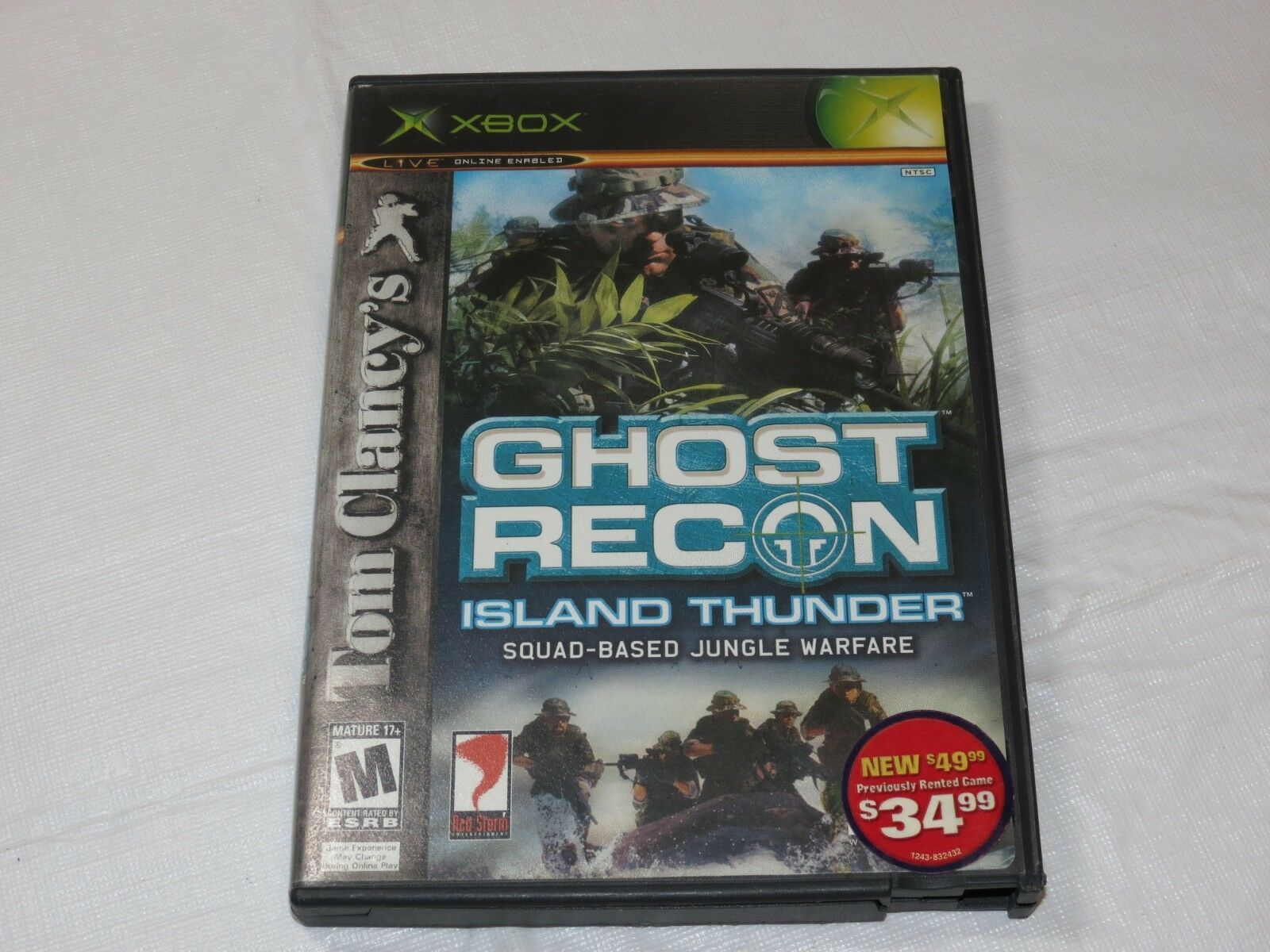 Tom Clancy's Ghost Recon : Island Tonnerre Microsoft Xbox 2003 Shooter M-MATURE