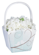 flower girl basket love birds design wedding flower basket - $10.90