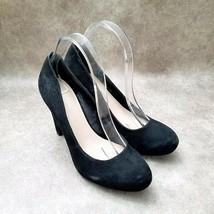 "Franco Sarto Womens Cicero  Sz 9 M Black  Leather Slip On 4.5"" Heels Pumps - $31.99"