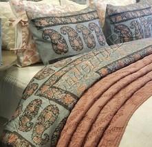 Pottery Barn Thaila Duvet Cover Set Blue Queen 2 Standard Shams Paisley ... - $199.00