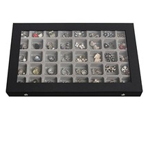 JackCubeDesign 40 Compartments Jewelry Display Tray Showcase Organizer S... - $27.16