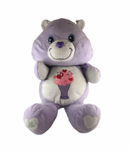 """Care Bears Share Bear Milkshake Purple Large Plush 22"""" 25 Years - $24.74"""