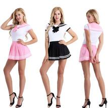 Adult Japan Cosplay  Sailor School Girl Uniform Skirt Set Costume Fancy ... - $16.99
