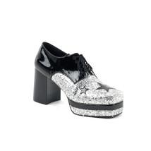 """FUNTASMA Glamrock-02 Series 3 1/2"""" Heel Platform Flat - Black Patent-Sil... - $59.95"""