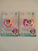 Disney Baby Minnie Mouse Baby Girl Pacifier With Cover BPA Free Pink Lot... - $11.99