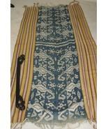 1920 Handspun Hand woven rare Timor Rote Warp Ikat Tapestry Dye Resist T... - $474.99