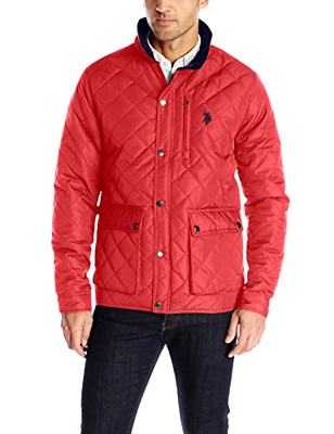 Primary image for U.S. Polo Assn. Men's Diamond-Quilted Jacket, Chili Pepper, M