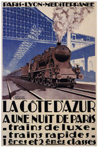 French Vintage Decoration Design Poster.Train Travel.Agency wall art Dec... - $9.90+